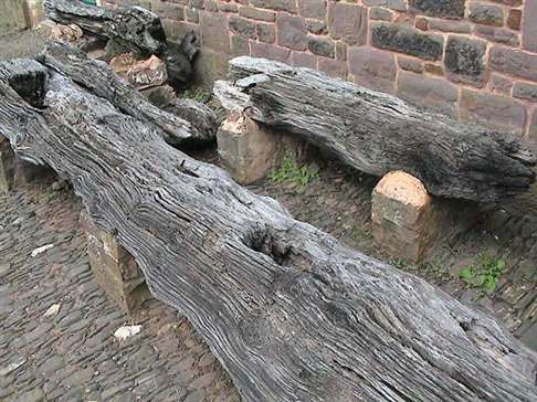 15th century timbers from the Exe Bridge at Tiverton